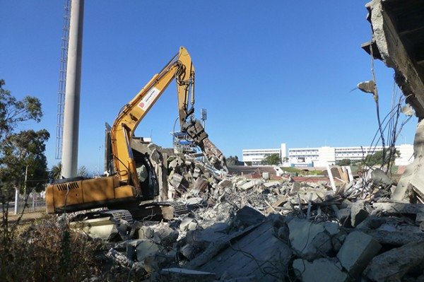 [VIDEO] EXCLUSIVO: Demolición de Estadio Playa Ancha
